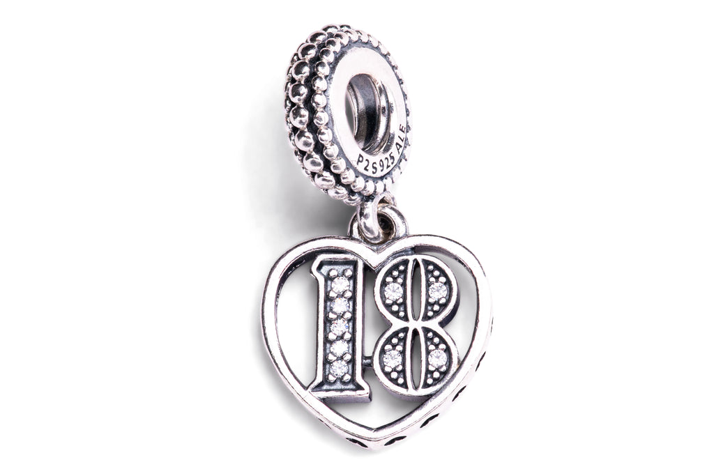 PANDORA 18th Celebration Dangle Charm -
