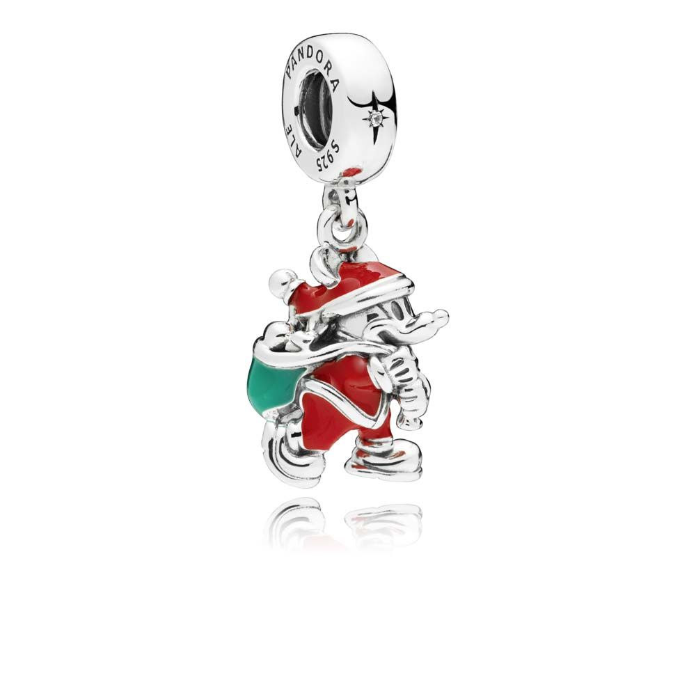 PANDORA Disney Santa Mickey & Gift Bag Dangle Charm