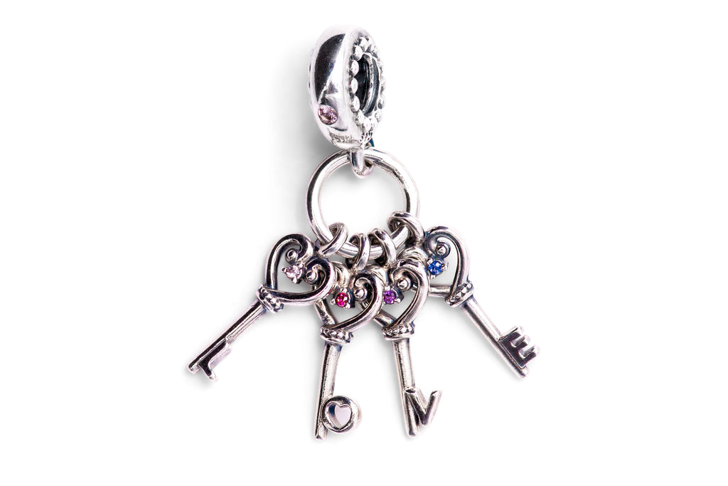 PANDORA Keys of Love Dangle Charm -