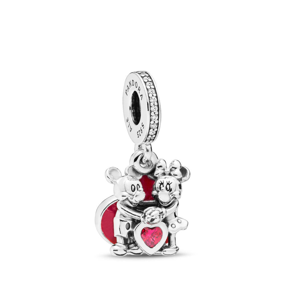 PANDORA Disney Mickey and Minnie With Love Hanging Charm