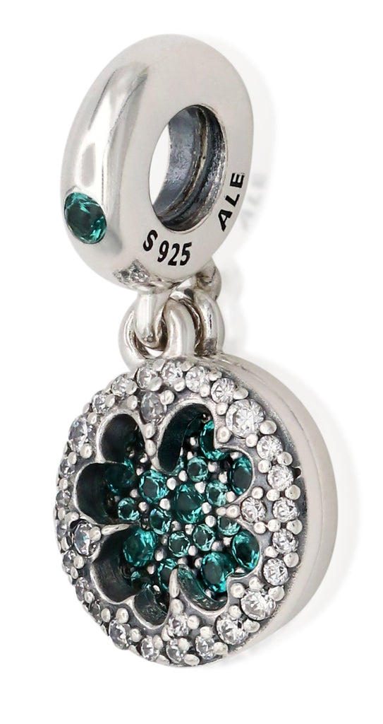 PANDORA Dazzling Clover Dangle Charm