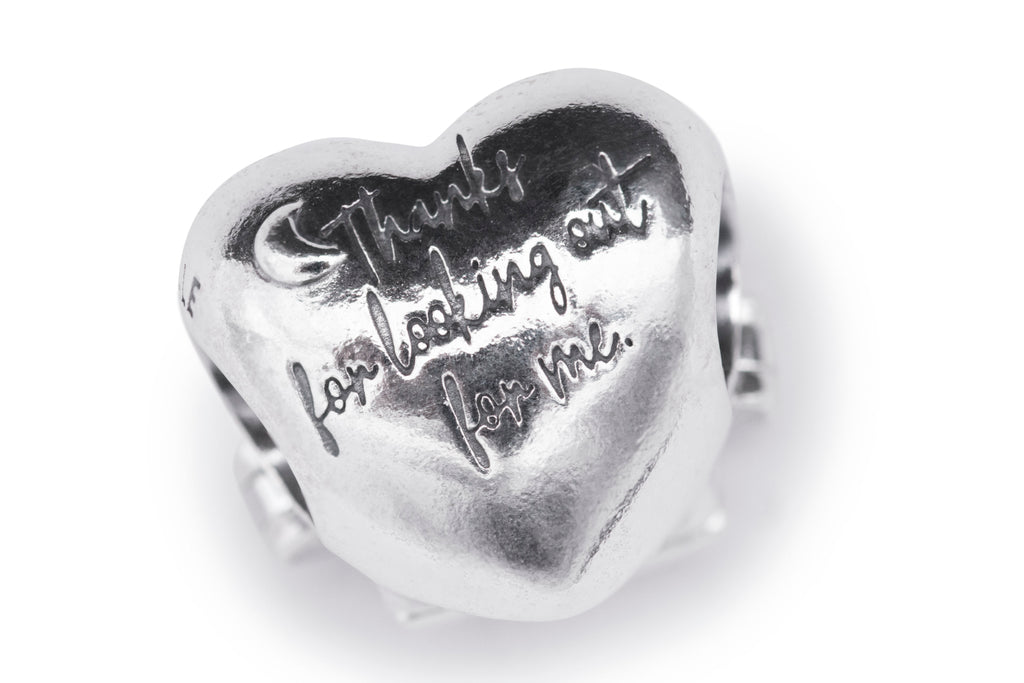 PANDORA Window Heart 925 Sterling Silver Charm -