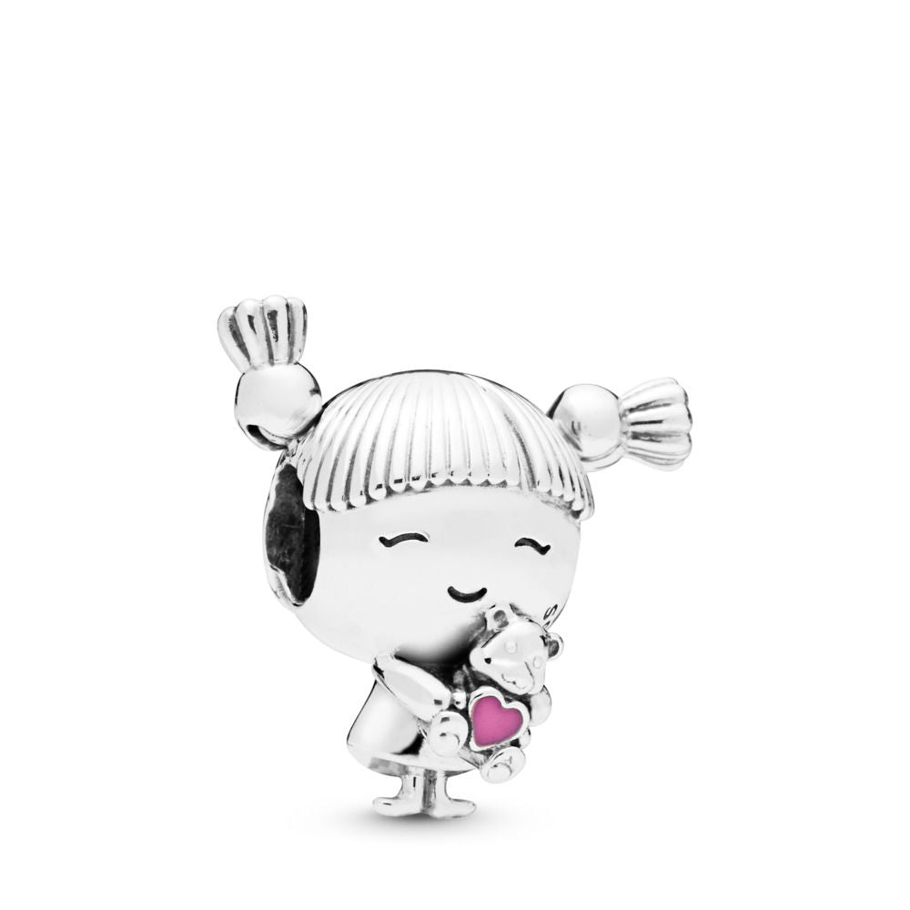PANDORA Girl with Pigtails Charm -