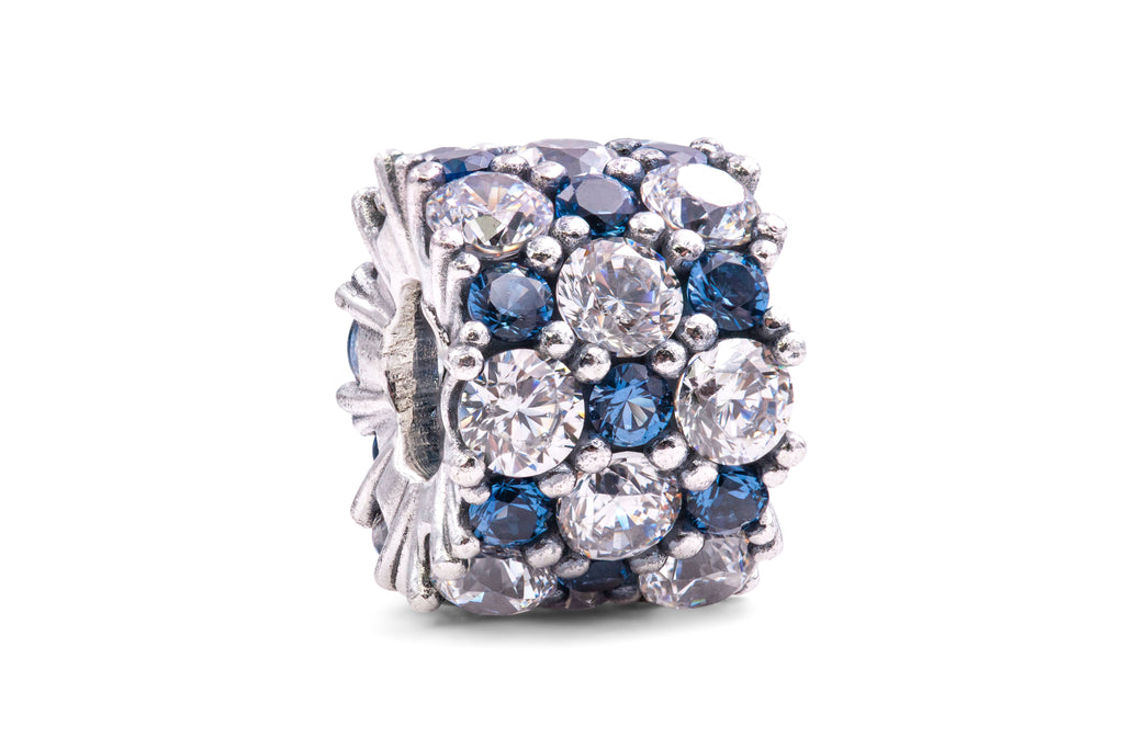PANDORA Blue and Clear Sparkle Charm -