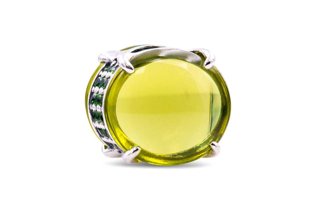 Pandora Colours Green Oval Cabochon Charm -