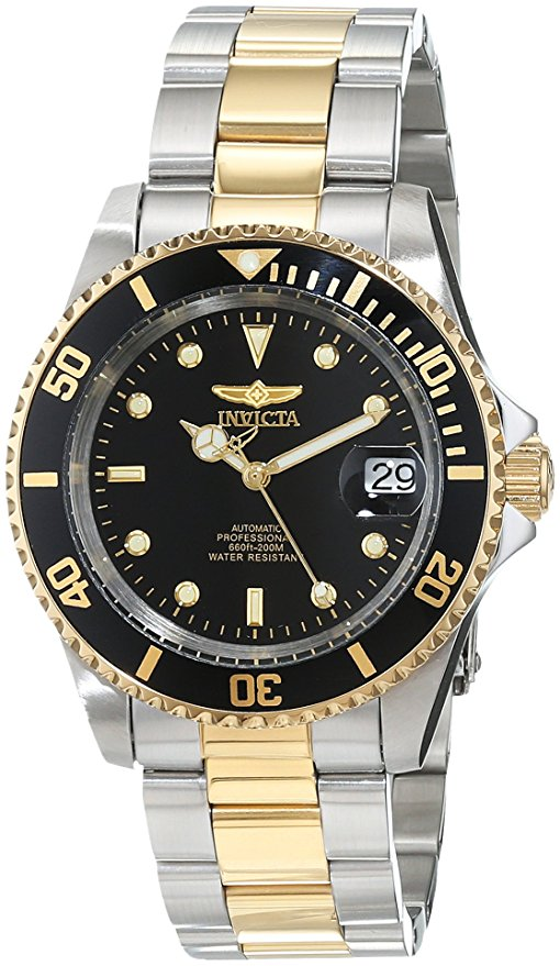 Invicta Pro Diver 18k Gold Ion Two-Tone Mens Watch