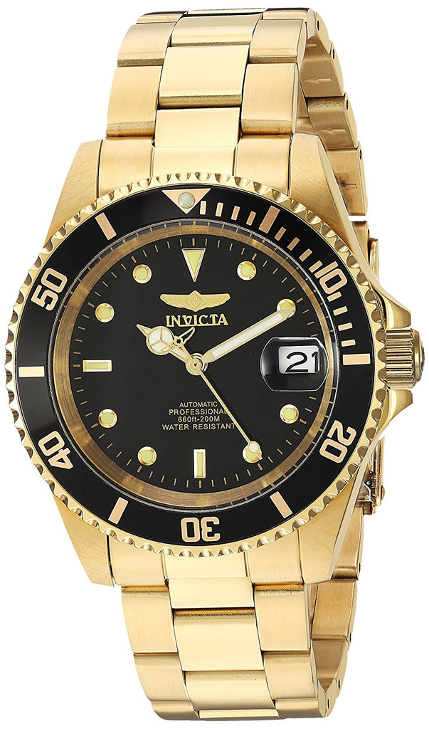 Invicta Pro Diver Gold-Tone Stainless Steel  Automatic Mens Watch