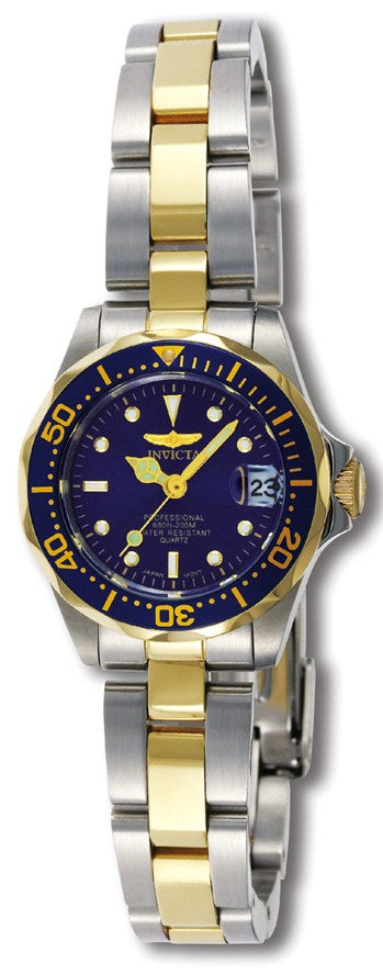 Invicta Ladies Pro Diver Blue Dial Two Tone Stainless Steel Watch