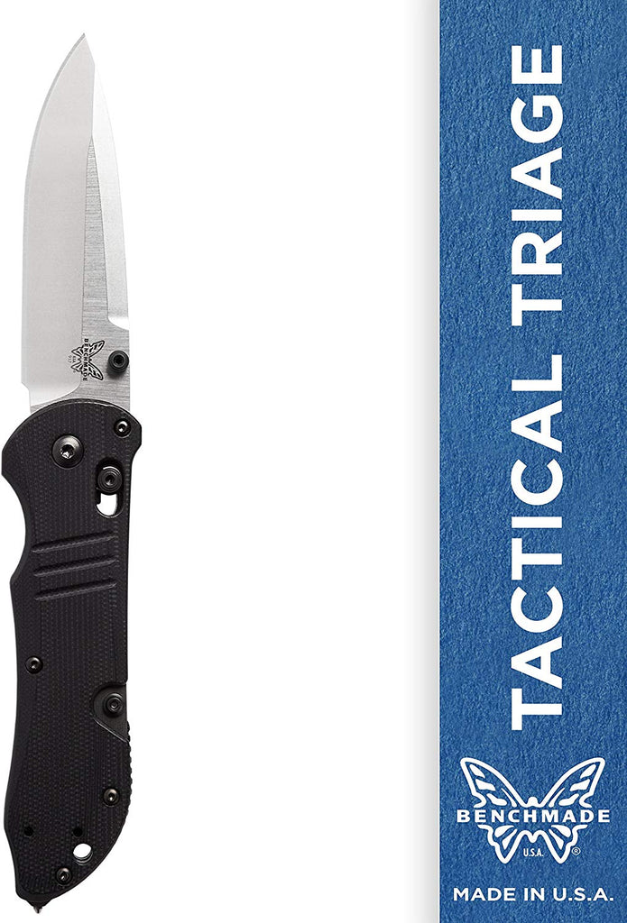 Benchmade Tactical Triage  Manual Folding Knife with Glass Breaker and Rescue Hook Plain Edge