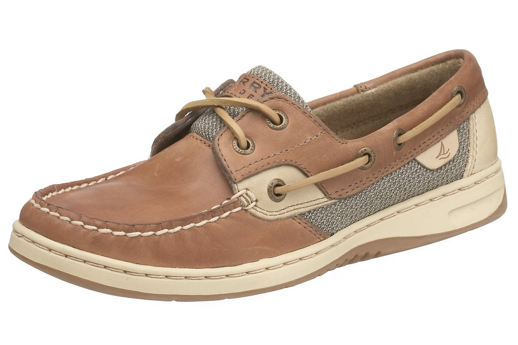 SPERRY Womens Bluefish 2 Eye Boat Shoe - Linen Oat - 8