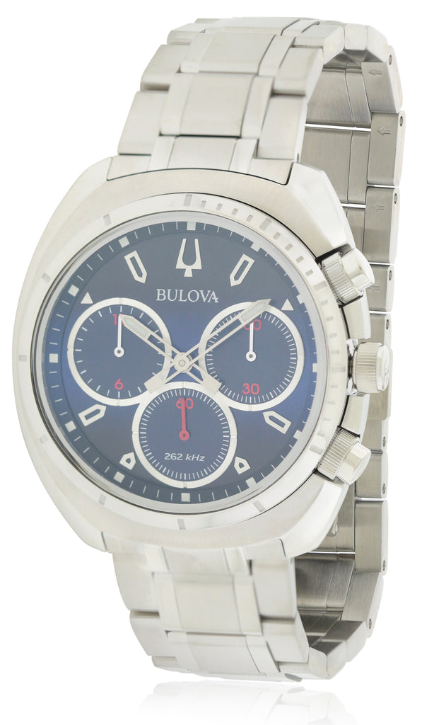 Bulova Stainless Steel Chronograph Mens Watch