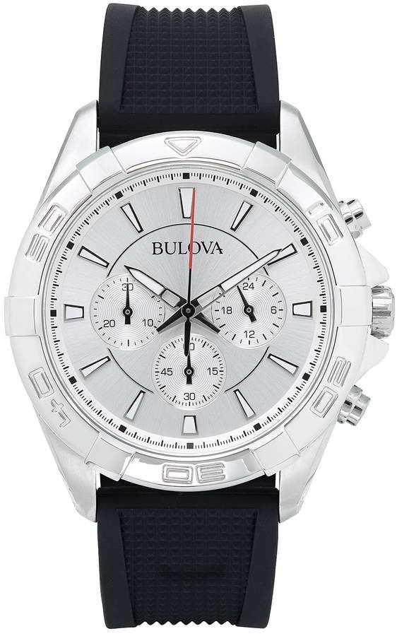 Bulova Chronograph White Dial Mens Watch