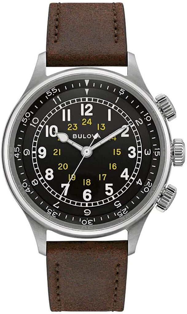 Bulova A-15 Pilot Automatic Leather Mens Watch