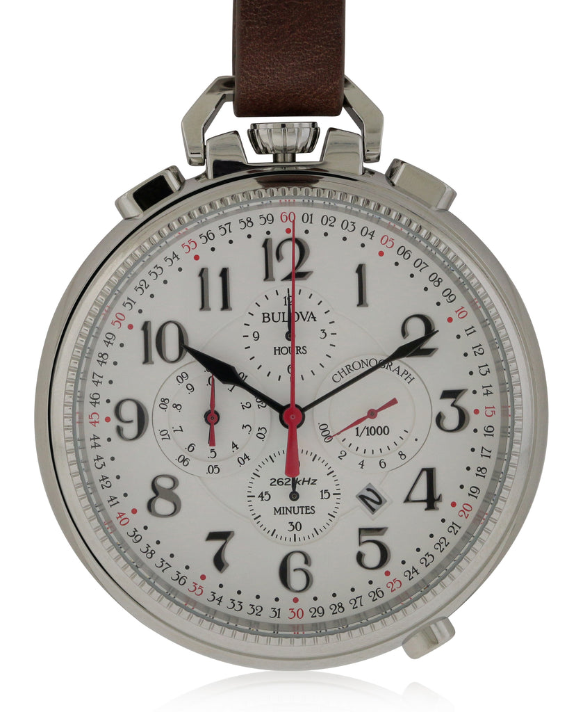 Bulova Leather Chronograph Pocket Watch