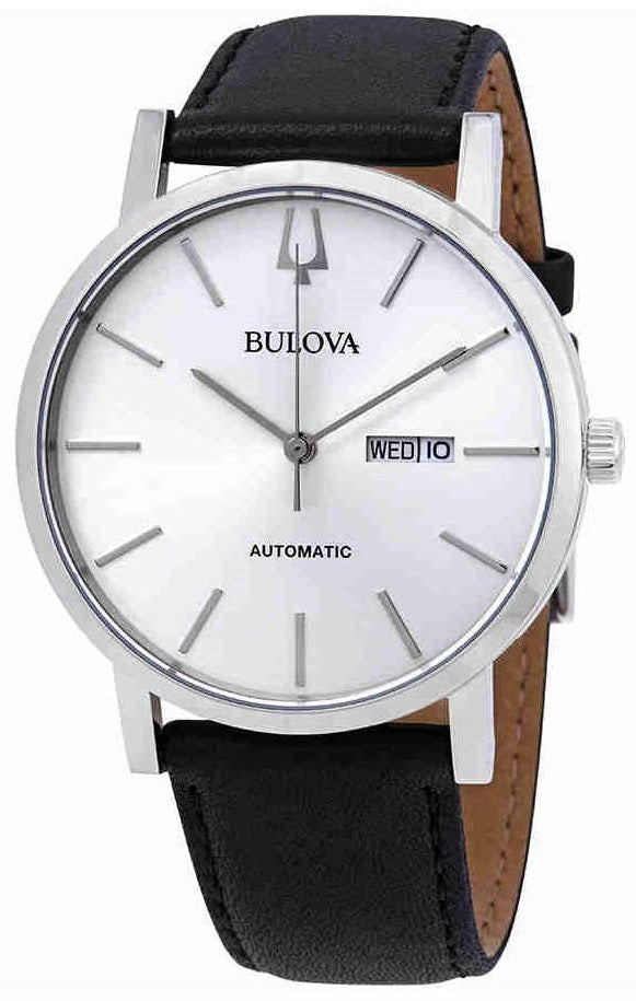 Bulova Classic Automatic Leather Mens Watch