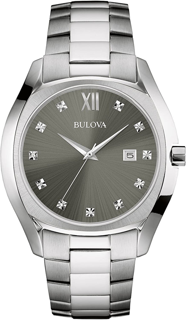 Bulova Mens Stainless Steel Dress Watch