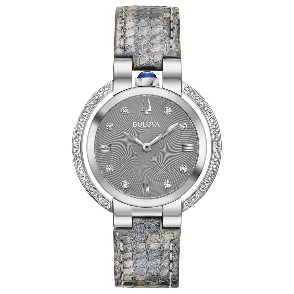 Bulova Rubaiyat Diamond Leather Ladies Watch