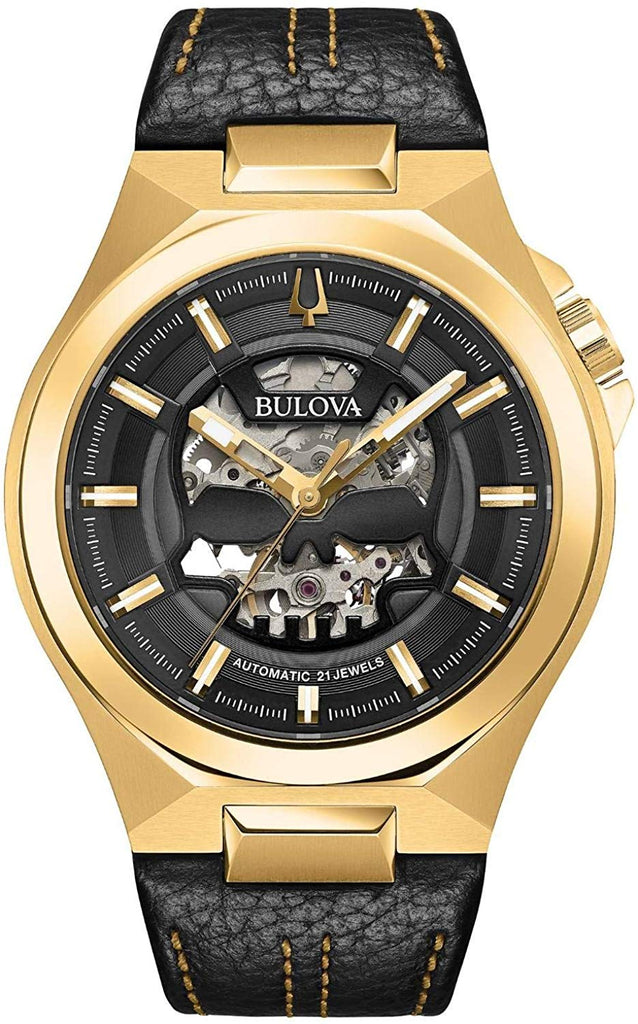 Bulova Maquina Automatic Leather Mens Watch
