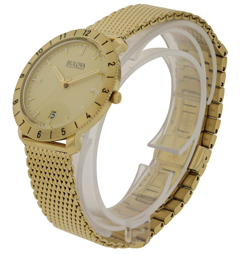 Bulova Accutron Moonview Gold-Tone Mens Watch