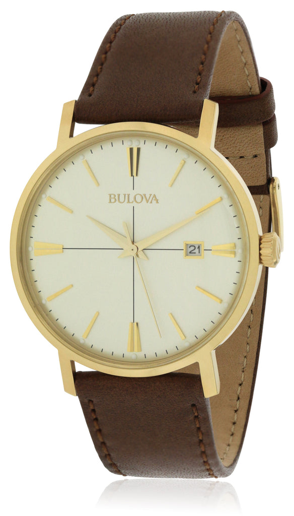 Bulova Aerojet Leather Mens Watch