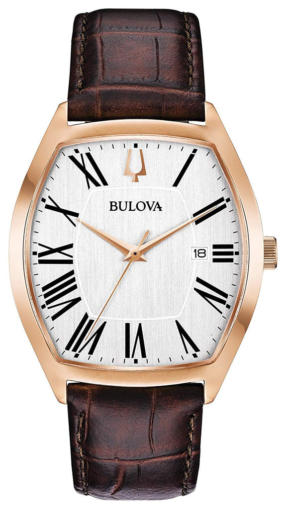 Bulova Leather Mens Watch