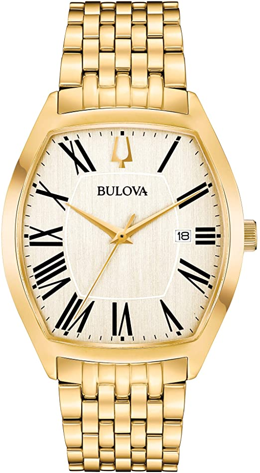 Bulova Mens Analog Display Analog Gold Watch