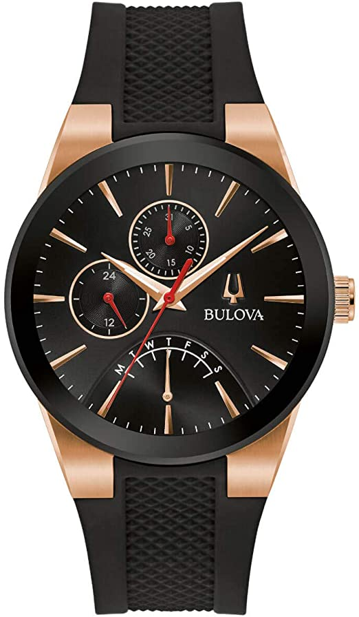 Bulova Futuro Black Silicone Mens Watch