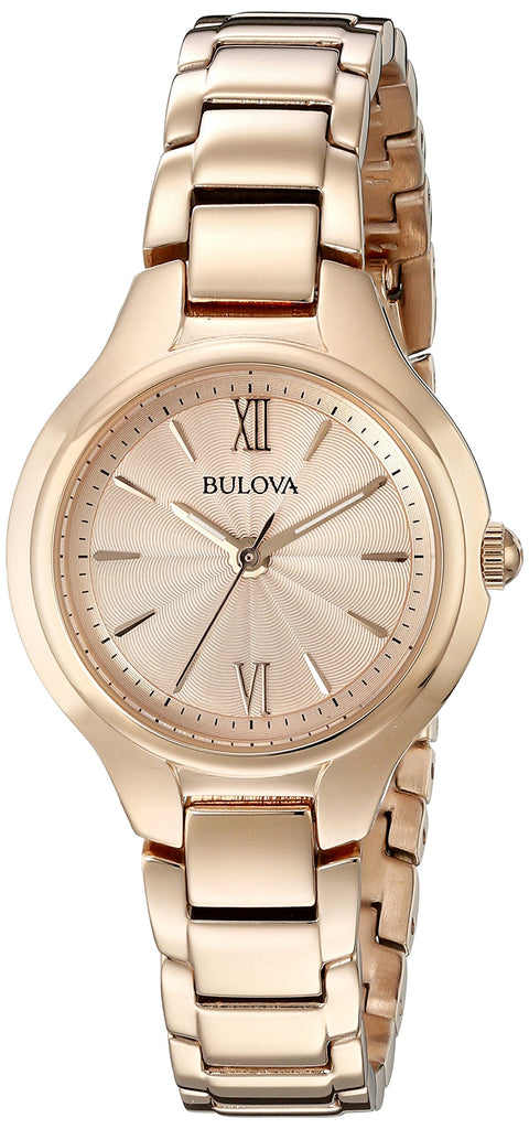 Bulova Classic Rose Gold-Tone Stainless Steel Ladies Watch