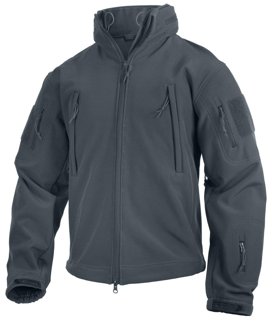 Rothco Special Ops Tactical Soft Shell Jacket - Gun Metal Gray - Small -