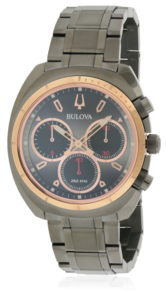 Bulova Black Stainless Steel Chronograph Mens Watch