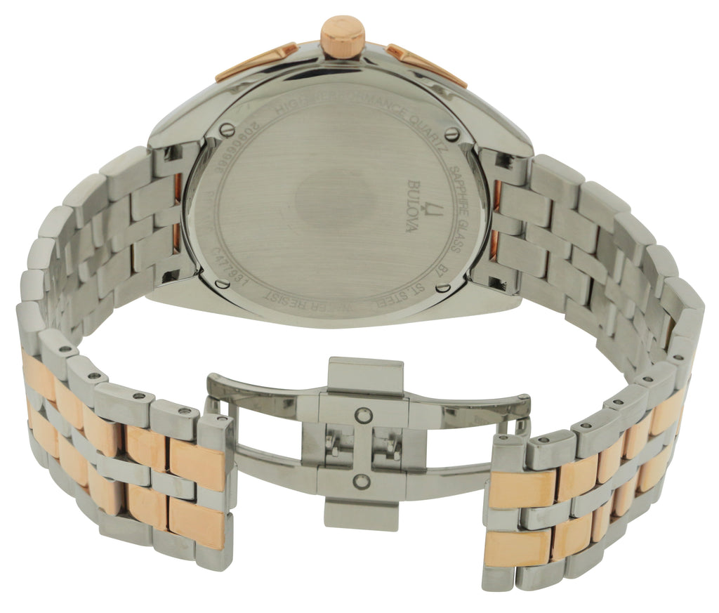 Bulova Two-Tone Stainess Steel Chronograph Mens Watch