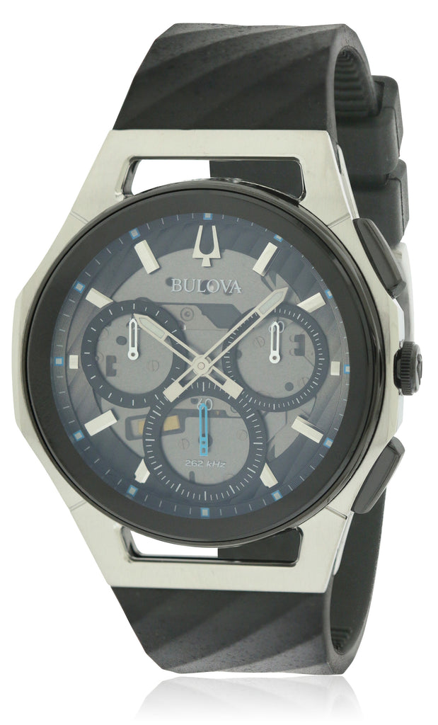 Bulova Rubber Chronograph Mens Watch