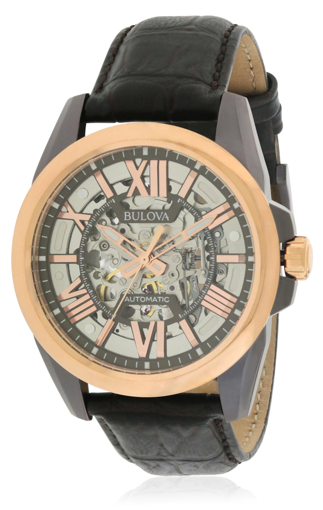 Bulova Automatic  Leather Mens Watch