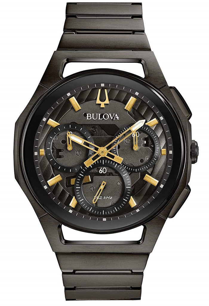 Bulova Curv Black Stainless Steel Chronograph Mens Watch