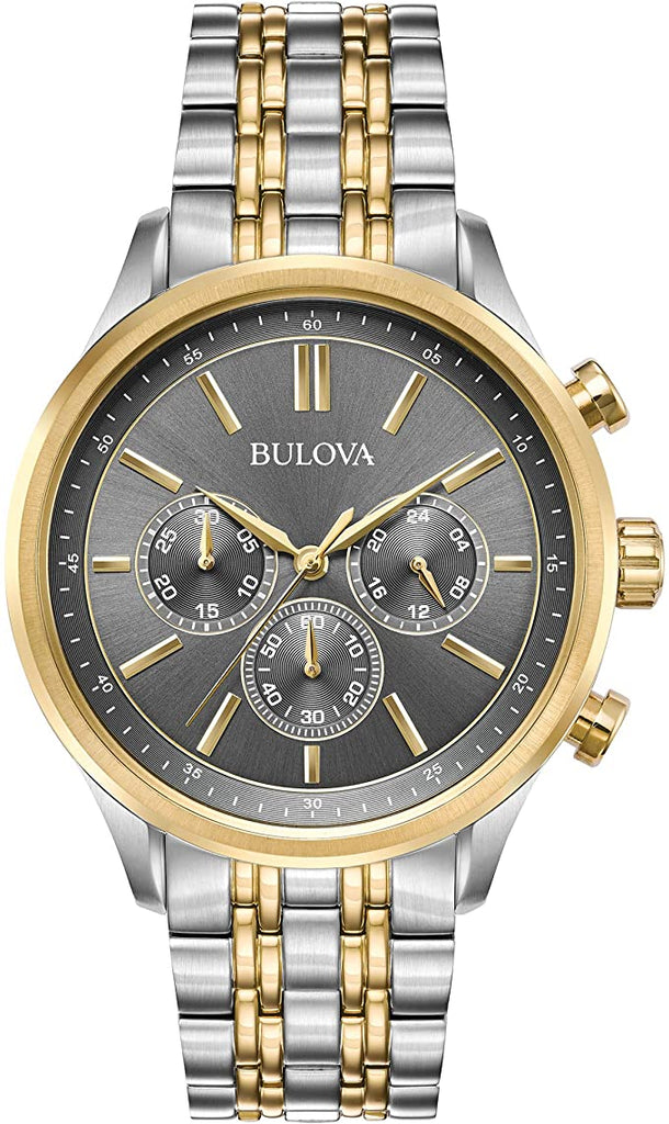 Bulova Chronograph Two-Tone Mens Watch
