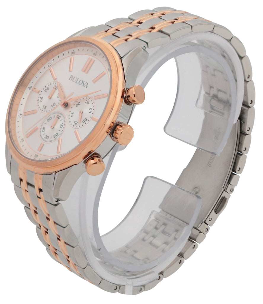 Bulova Two-Tone Chronograph Mens Watch