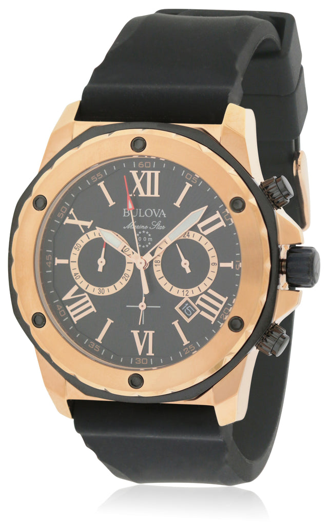 Bulova Marine Star Rubber Mens Watch