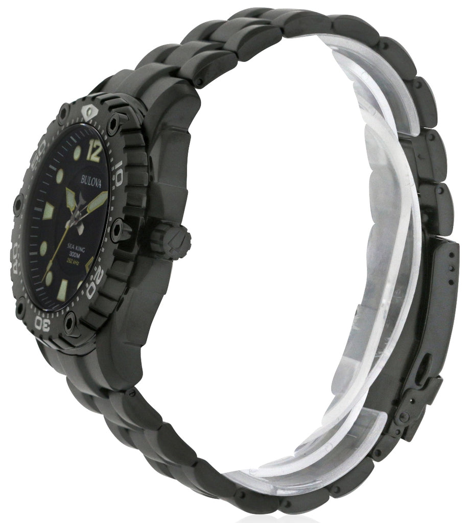 Bulova Sea King Black Stainless Steel Mens Watch