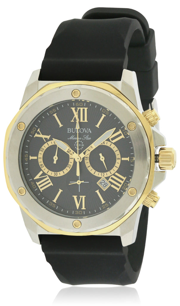 Bulova Silicone Chronograph Mens Watch
