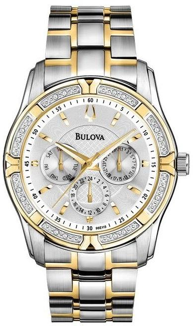 Bulova Two-Tone Diamond Mens Watch