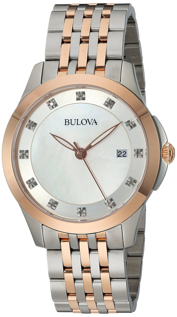 Bulova Classic Two-Tone Diamond Ladies Watch