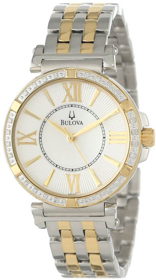 Bulova Two-Tone Diamond Ladies Watch