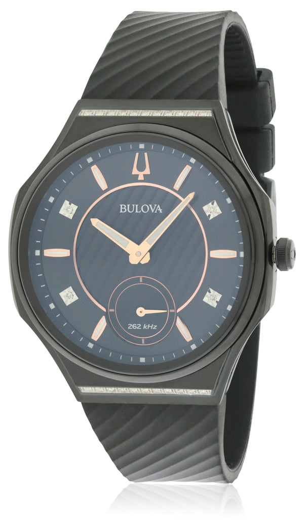Bulova Curv Rubber Ladies Watch