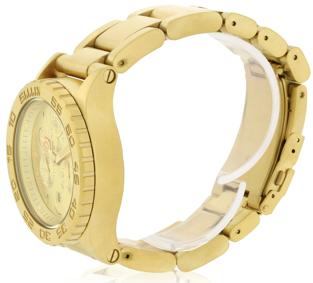 Nixon The 42-20 Gold-Tone Chronograph Mens Watch