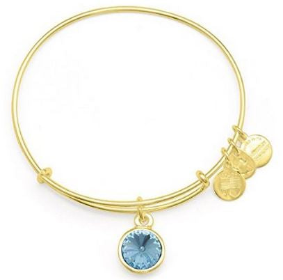 Alex and Ani March Birthstone Charm Bangle Bracelet -