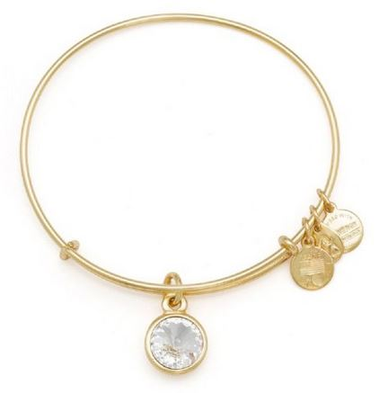 Alex and Ani April Birthstone Charm Bangle Bracelet -