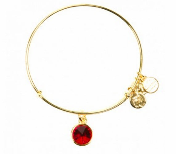 Alex and Ani July Birthstone Charm Bangle Bracelet -