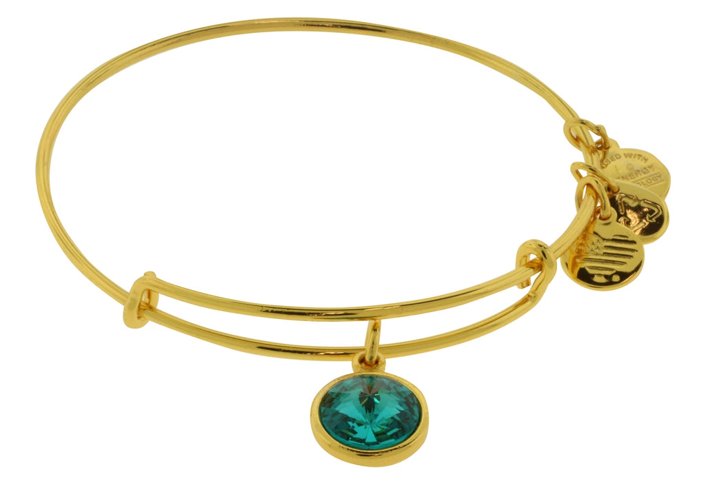 Alex and Ani December Birthstone Charm Bangle Bracelet -