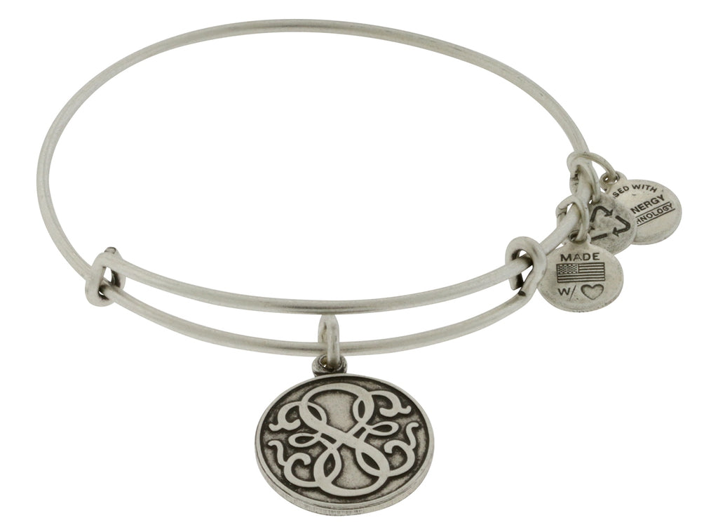 Alex and Ani Path Of Life Charm Bangle Rafaelian Silver Finish Bracelet -