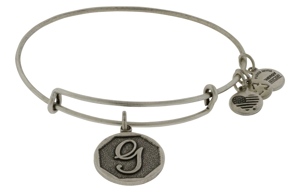 Alex and Ani Initial G Charm Bangle Bracelet -
